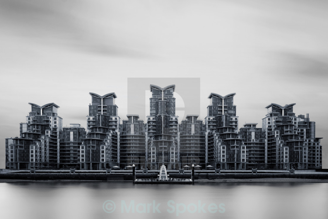 """St George Wharf"" stock image"