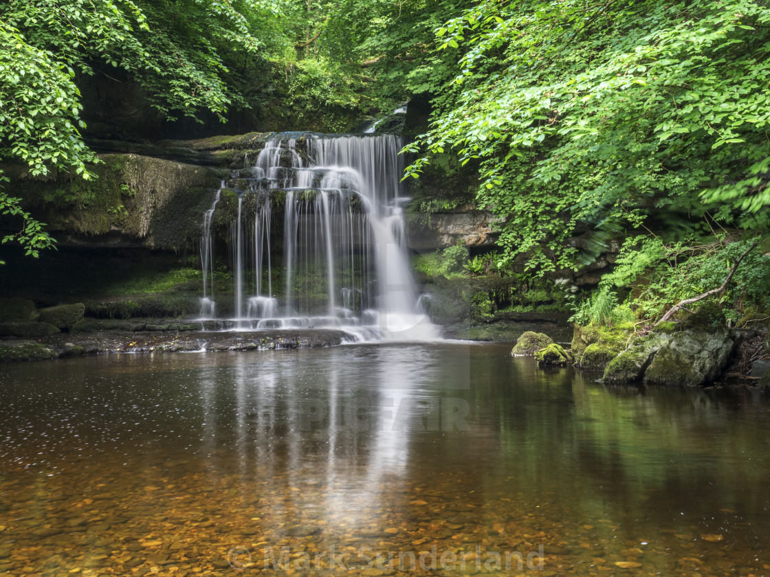 """West Burton Waterfall"" stock image"
