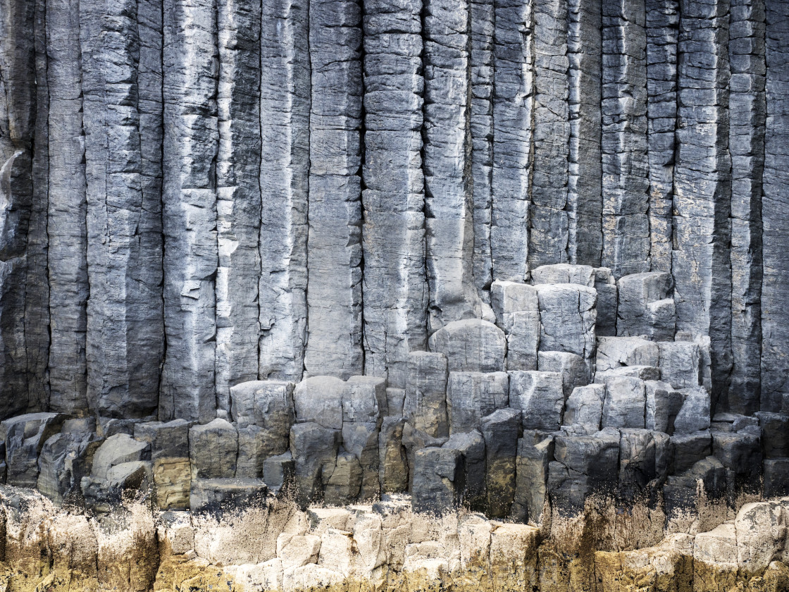 """Basalt Columns on Staffa"" stock image"