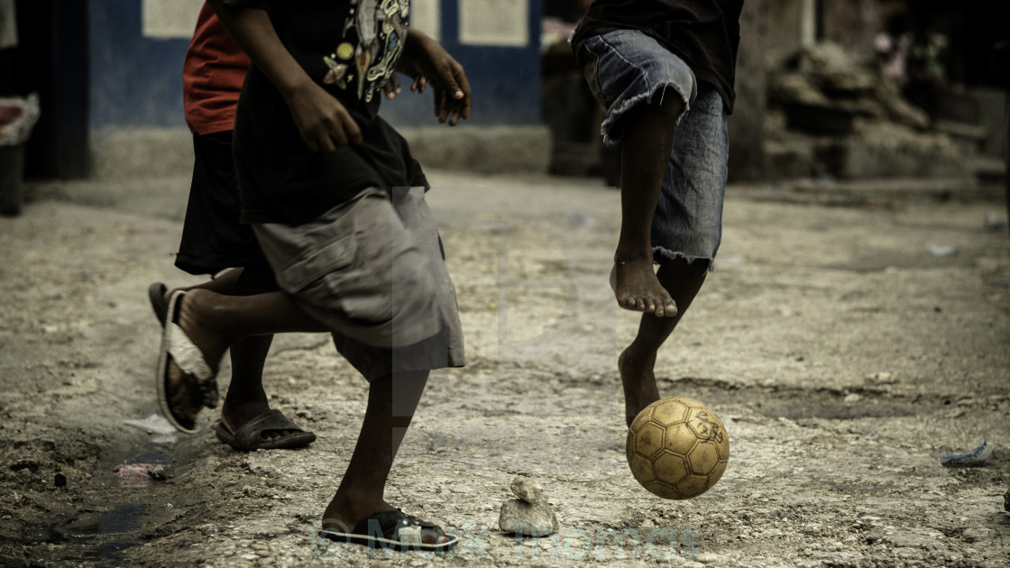 """Street Football"" stock image"