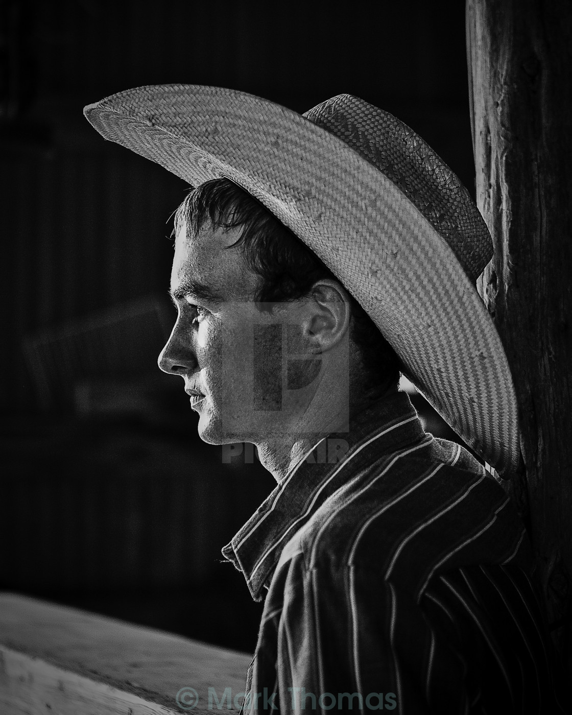 """Young Cowboy"" stock image"