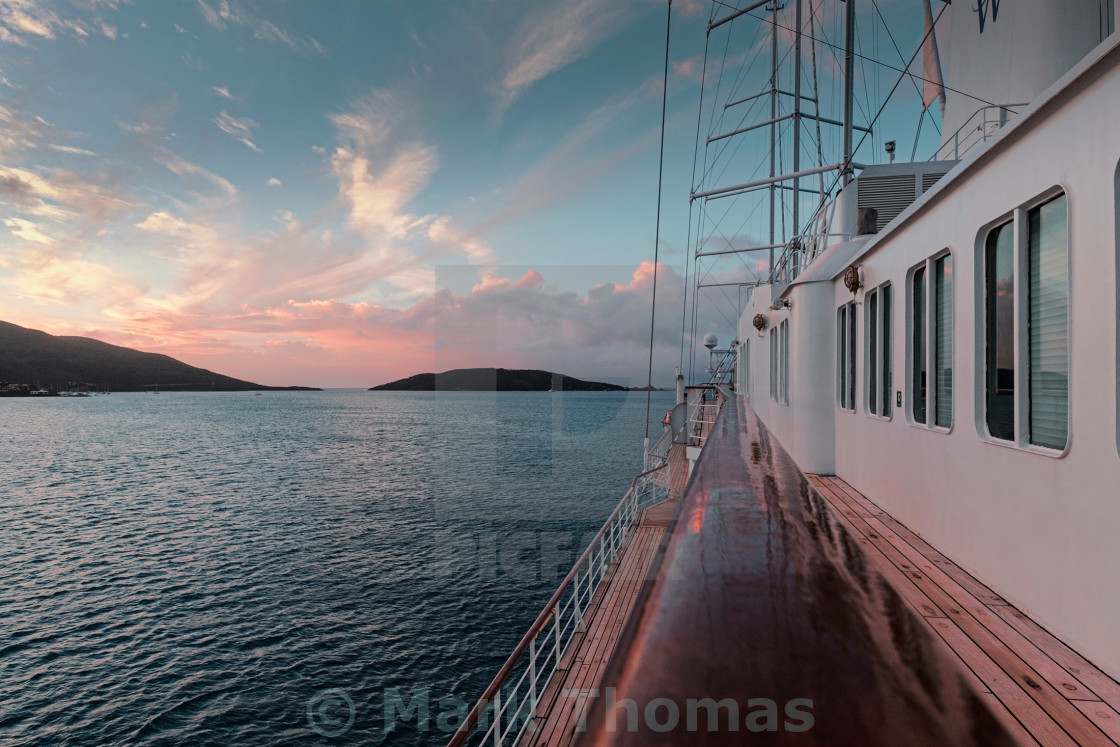 """Sailing in the British Virgin Islands"" stock image"