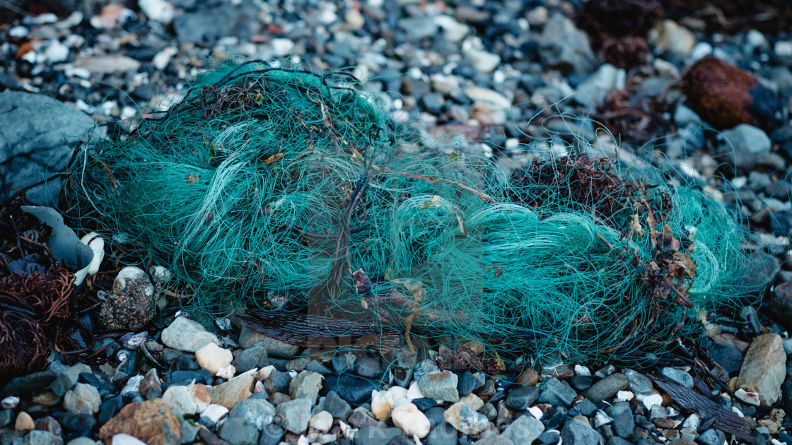 """Discarded Fishing Nets"" stock image"