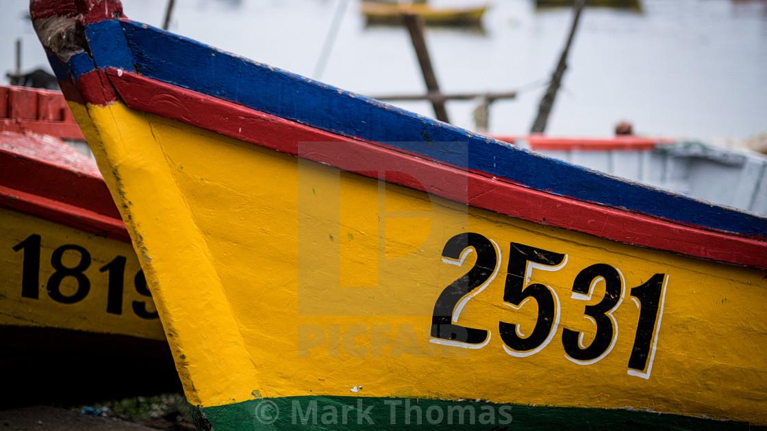 """Chilean Fishing Boats"" stock image"
