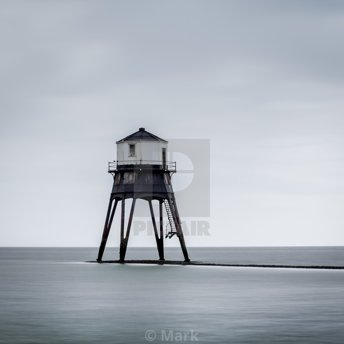 """The Low Lighthouse"" stock image"