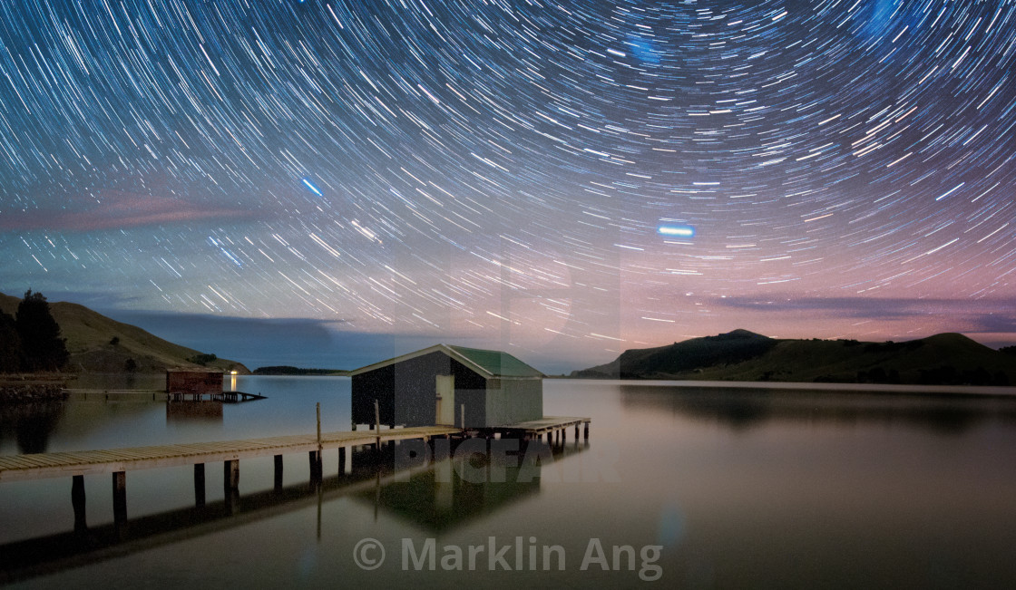 """Star Trails"" stock image"