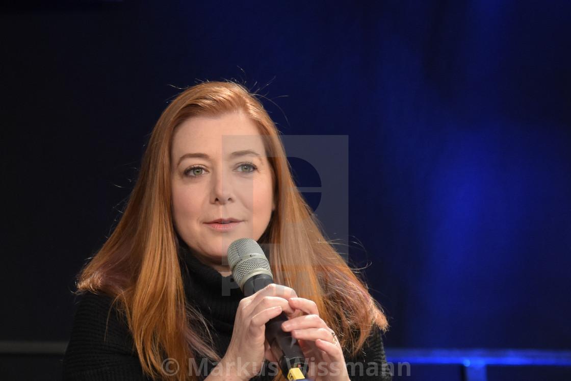Alyson Hannigan Photoshoot dortmund, germany - december 9th 2017: us actress alyson