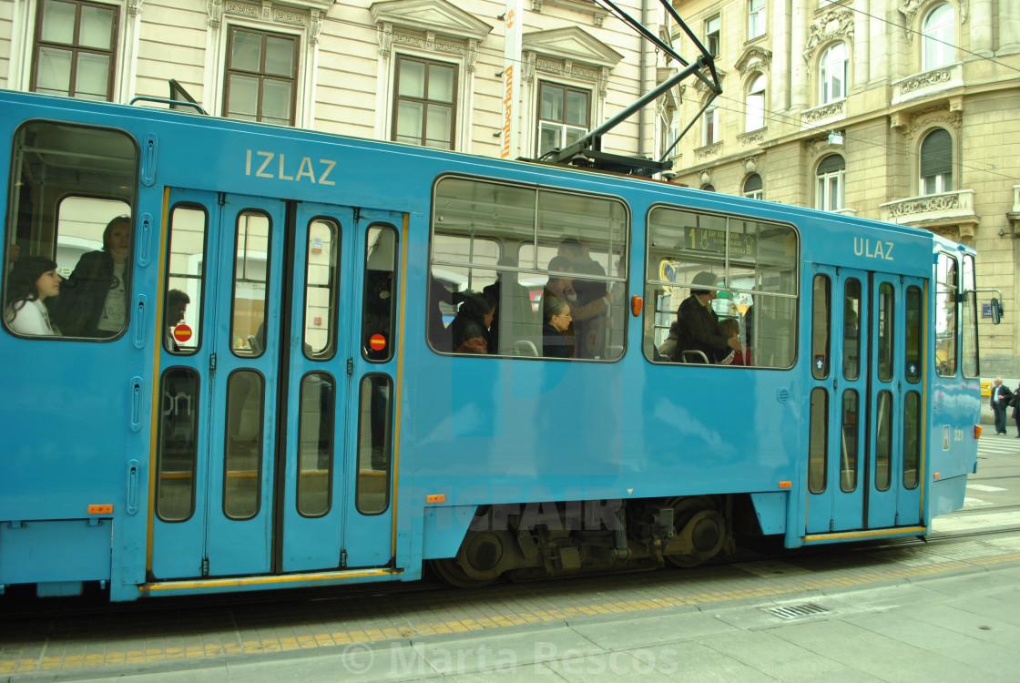 """""""Tram in Zagreb, Croatia"""" stock image"""