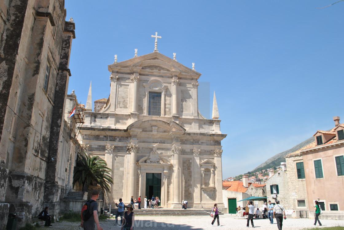 """Jesuit Church of St. Ignatius of Loyola, Old Town (Stari Grad), Dubrovnik,"" stock image"