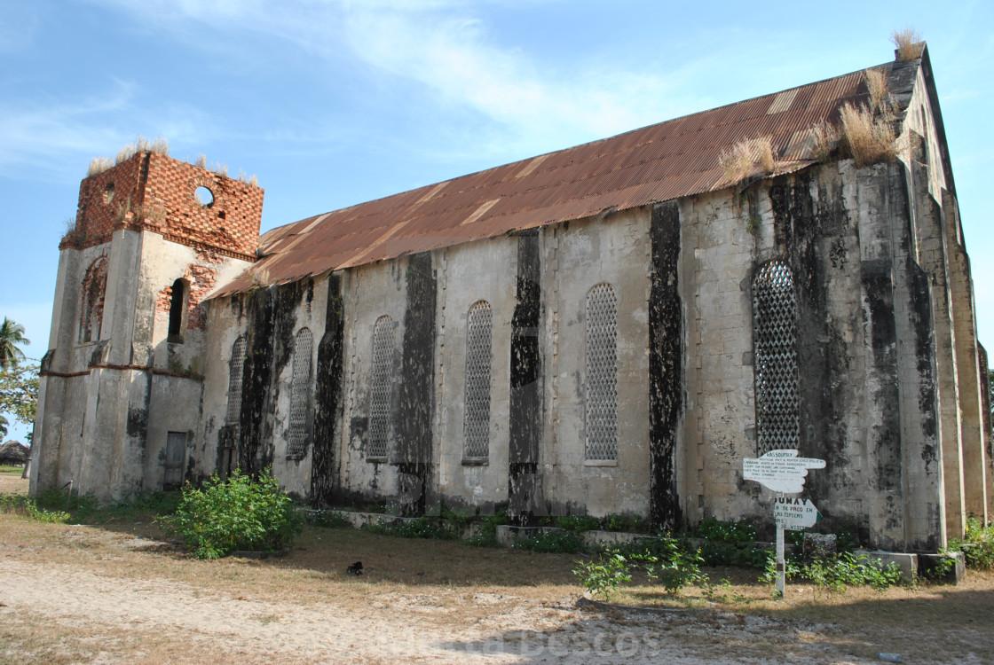 """Church on the island of Carabane (Karabane) , in southern Senegal"" stock image"