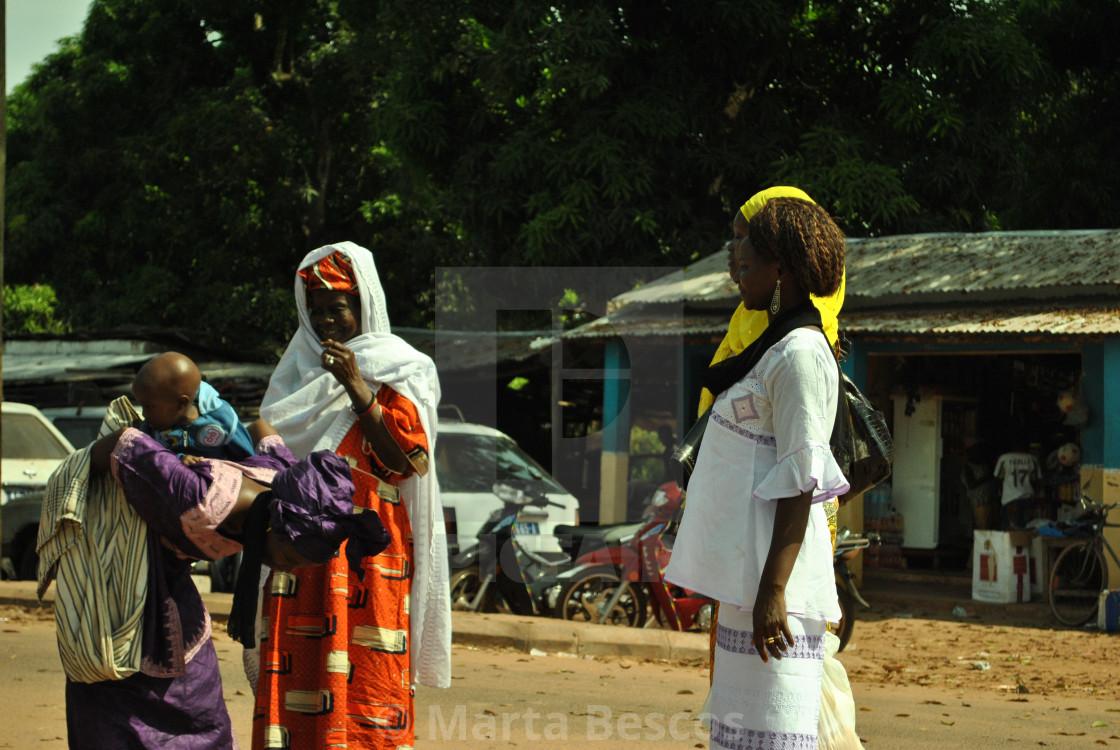 """Women Gambia & Senegal border"" stock image"
