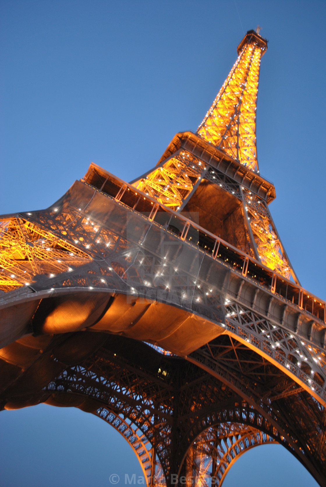"""""""The Effiel Tower at night. Gorgeous Paris Cityscape. France"""" stock image"""