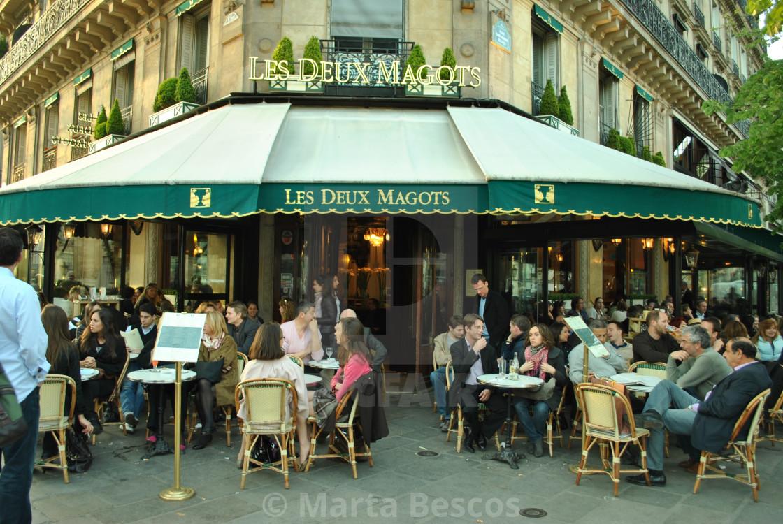 """""""Les Deux Magots Restaurant, Paris, France"""" stock image"""