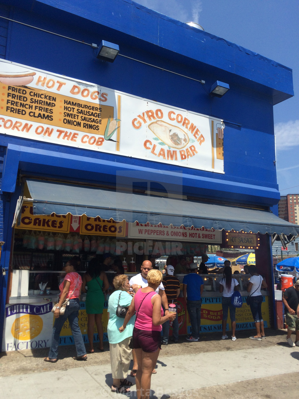 """People having fun at Coney Island, Brooklyn, New York."" stock image"