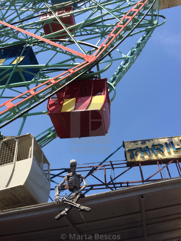 """Ferris Wheel, Amusement Park, Coney Island, New York City, USA"" stock image"