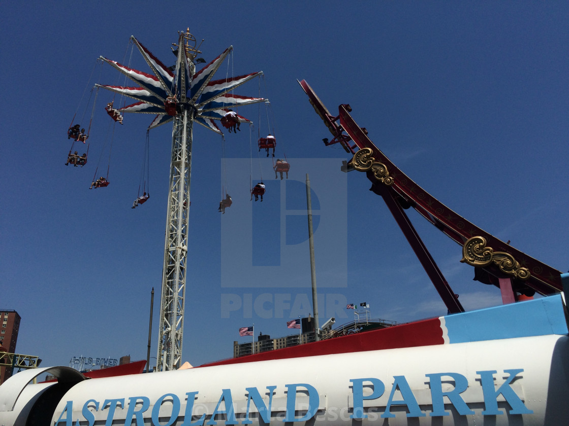 """""""Astroland in Coney Island in the Brooklyn borough of New York"""" stock image"""