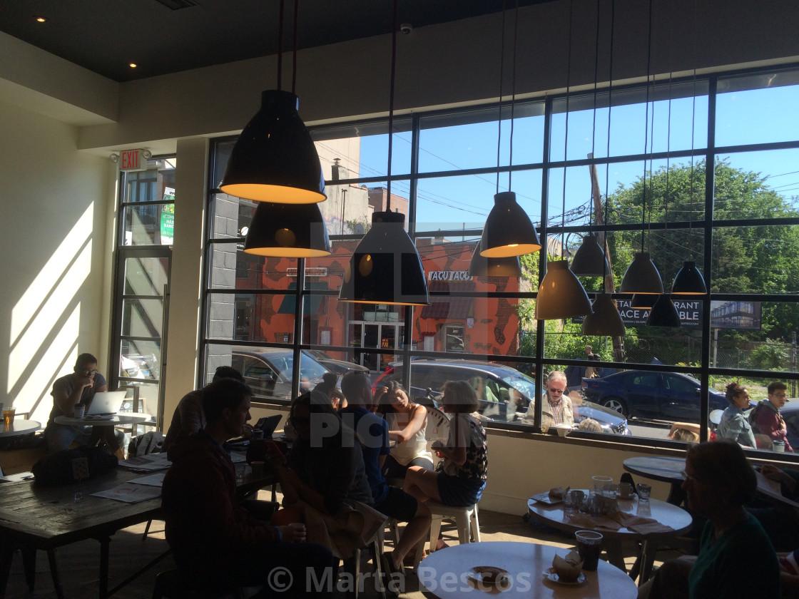 """Toby's Estate Coffee williamsburg"" stock image"