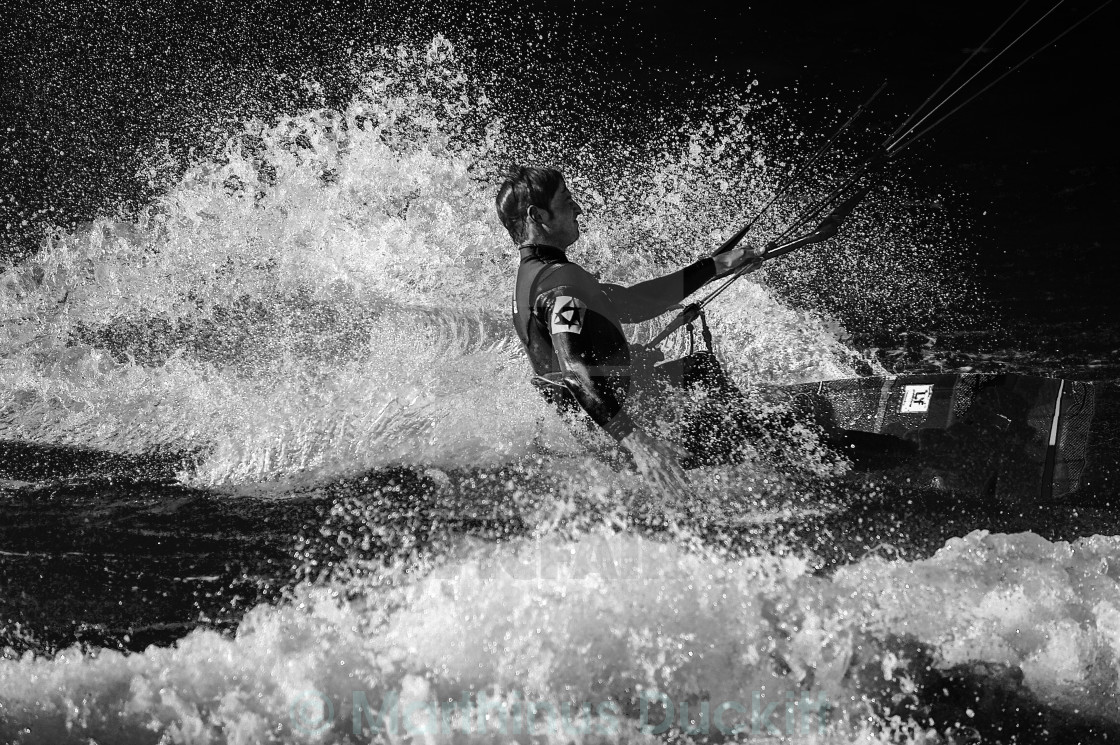 """Kitesurfer close up in waves"" stock image"