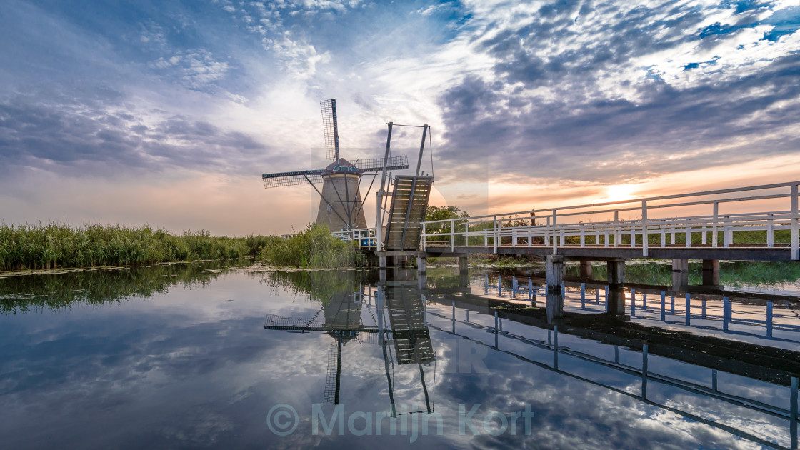 """Kinderdijk windmill"" stock image"