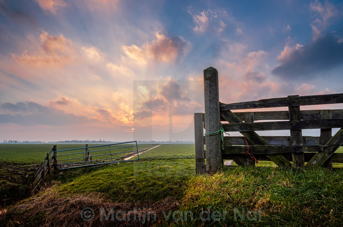 """Meadow Gates"" stock image"