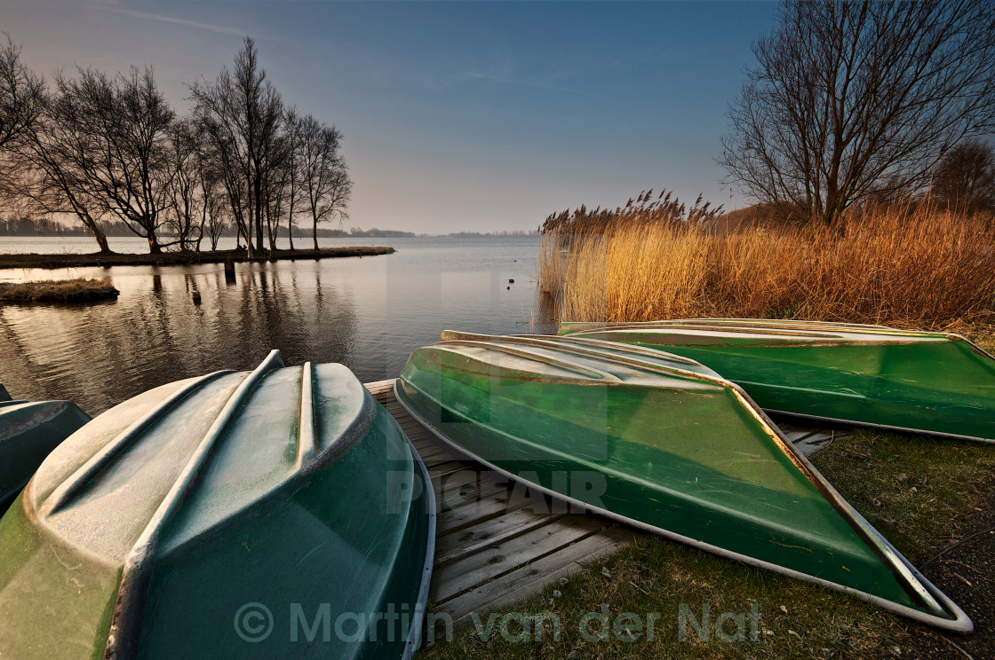 """Early Morning Light at the Vlietlanden"" stock image"