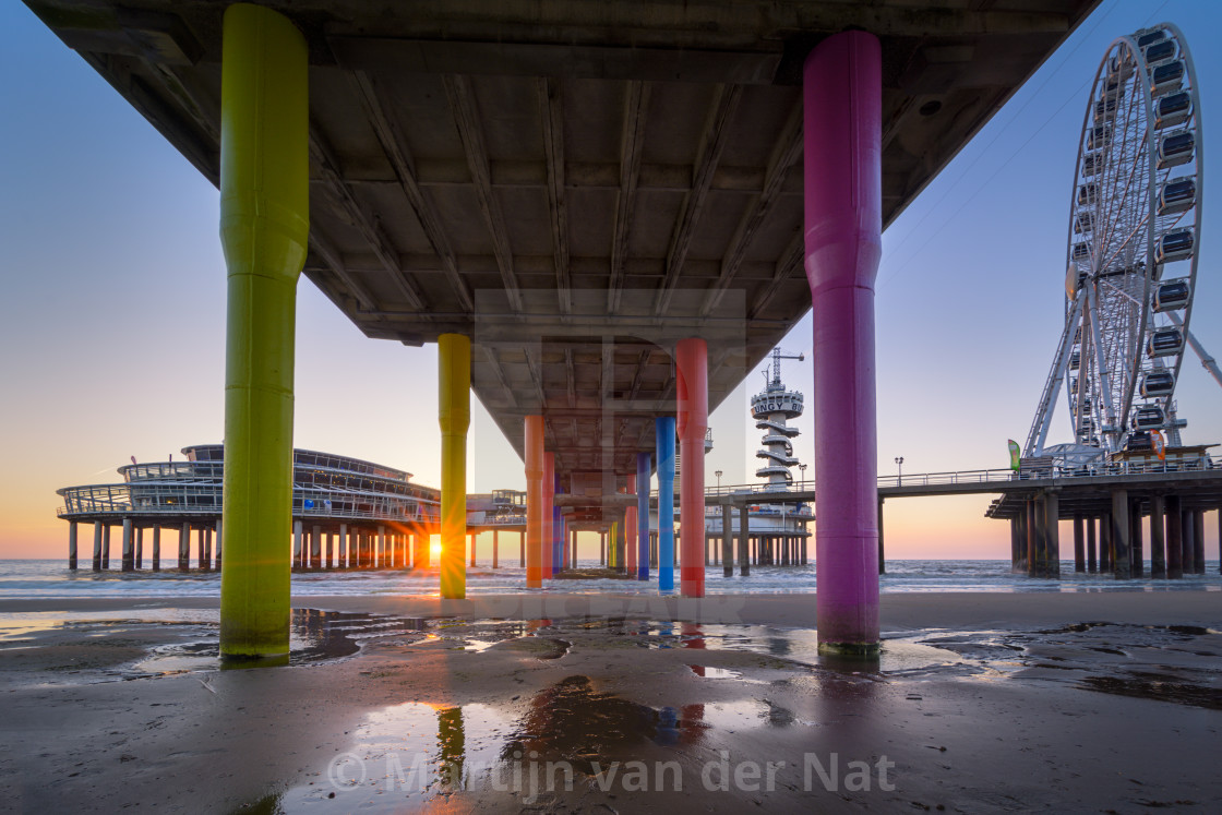 """Scheveningen Sunset"" stock image"