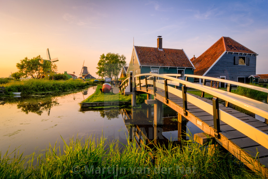 """Traditional houses over at the Zaanse Schans"" stock image"