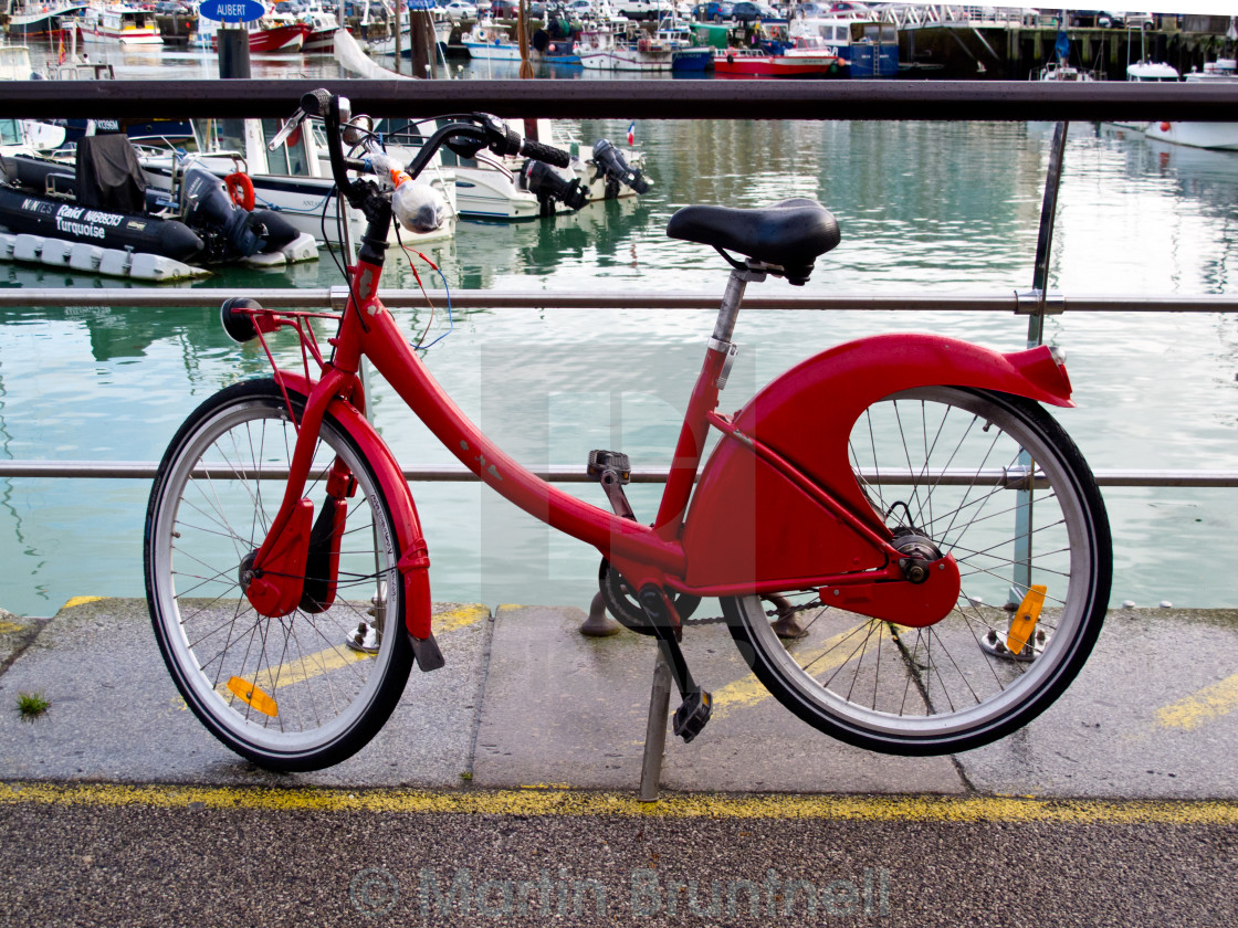 """""""The Red Bicycle"""" stock image"""