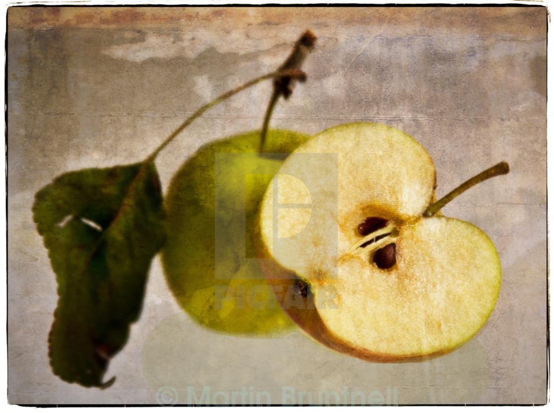 """Cut Apple"" stock image"