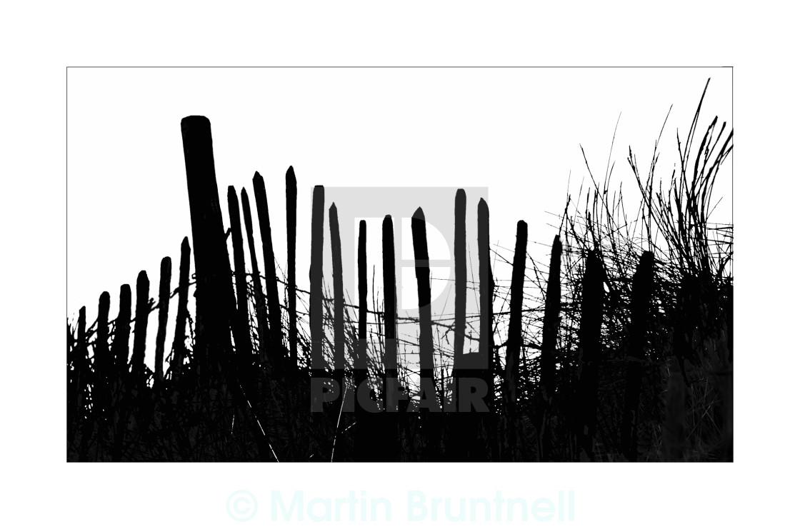 """Beach Fence"" stock image"