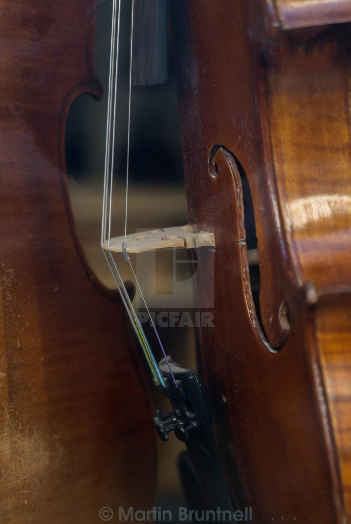 """Violin bridge"" stock image"