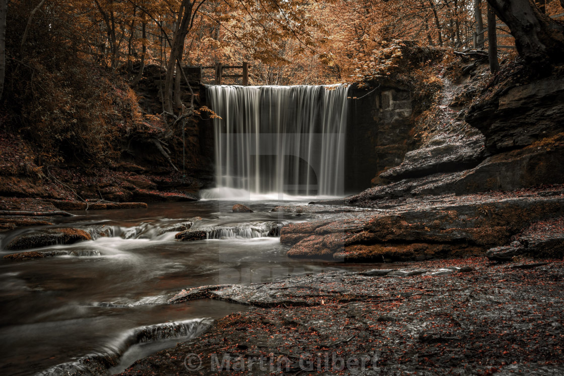 """Nant Mill Waterfall"" stock image"