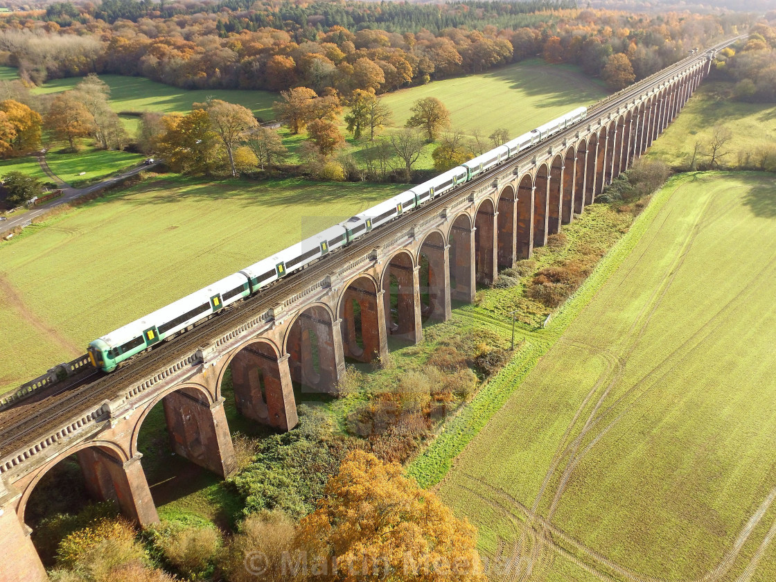 """Ouse Valley Viaduct in Sussex, England."" stock image"