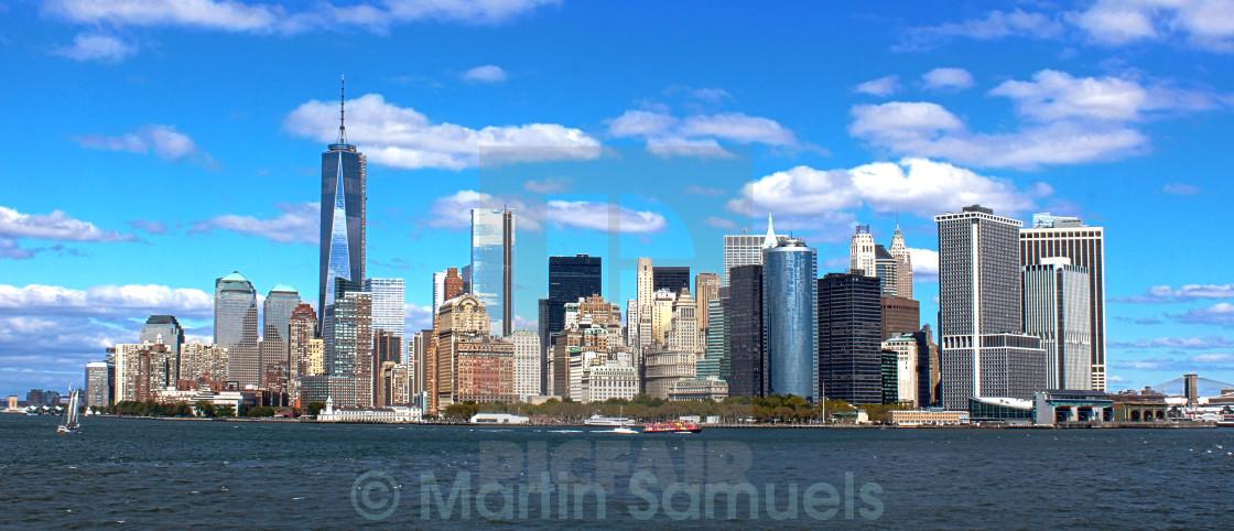 """Manhattan skyline by day"" stock image"