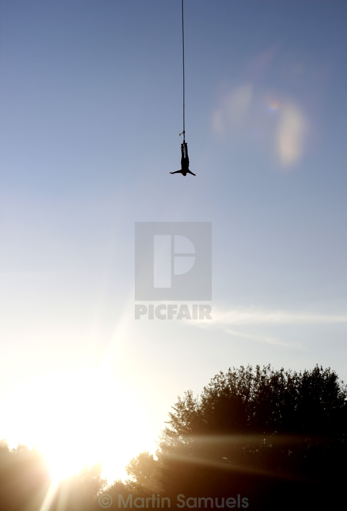 """Sunset Bungee Jump"" stock image"