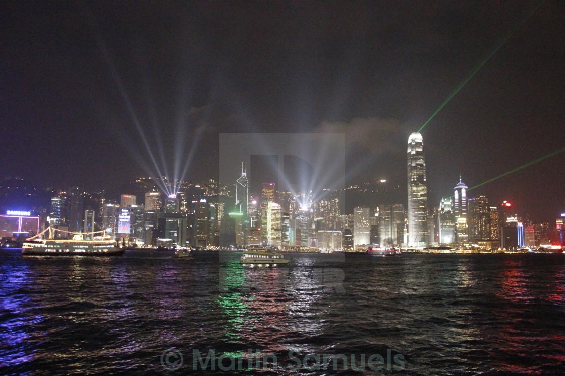 """""""Hong Kong : A Symphony of Lights"""" stock image"""