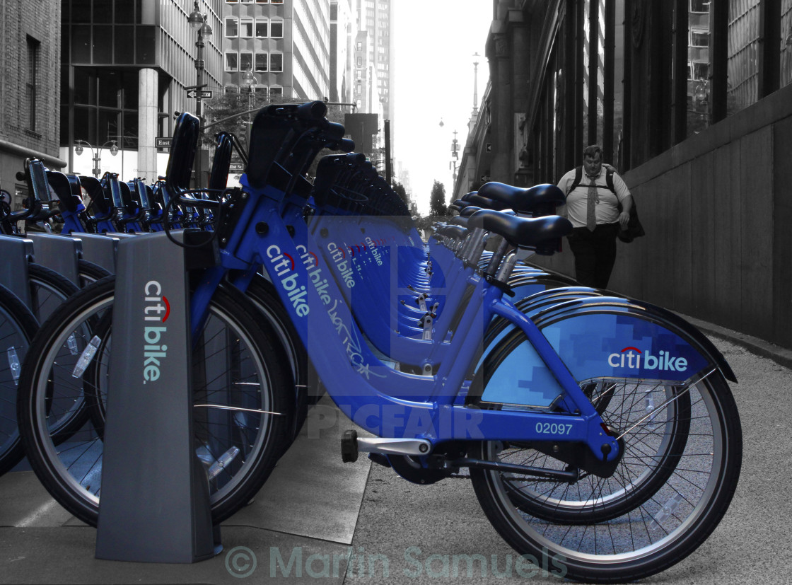 """NYC Citi bike"" stock image"