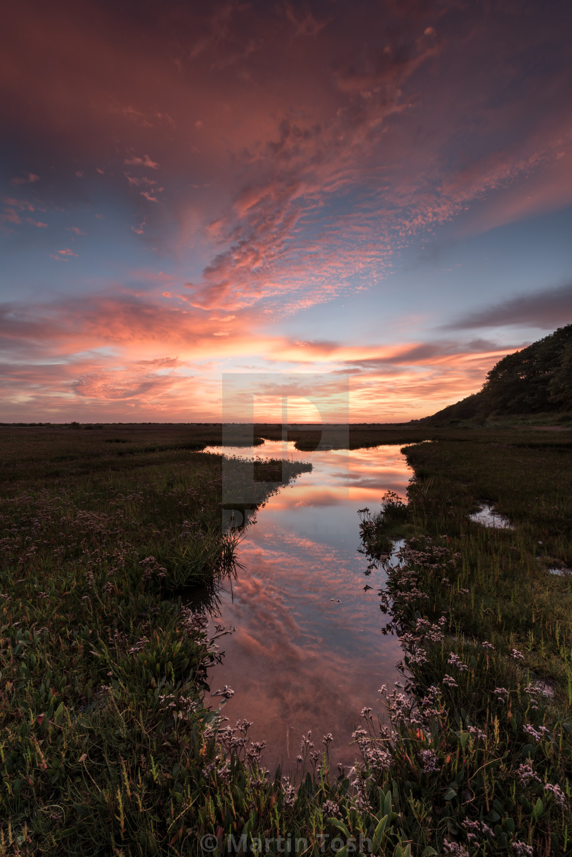 Liquid sky  Saltmarsh sunrise ii  Colourful dawn sky