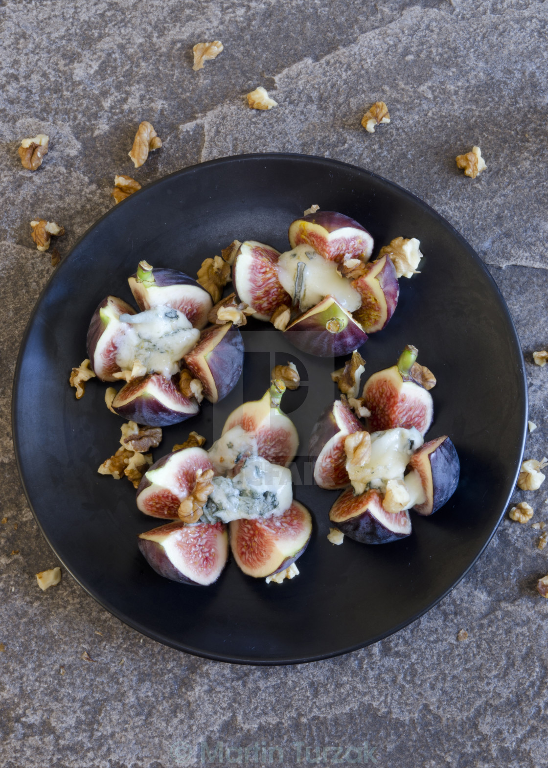 """Grilled figs"" stock image"