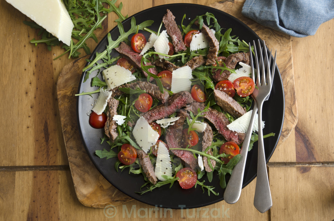 """Seared steak salad"" stock image"