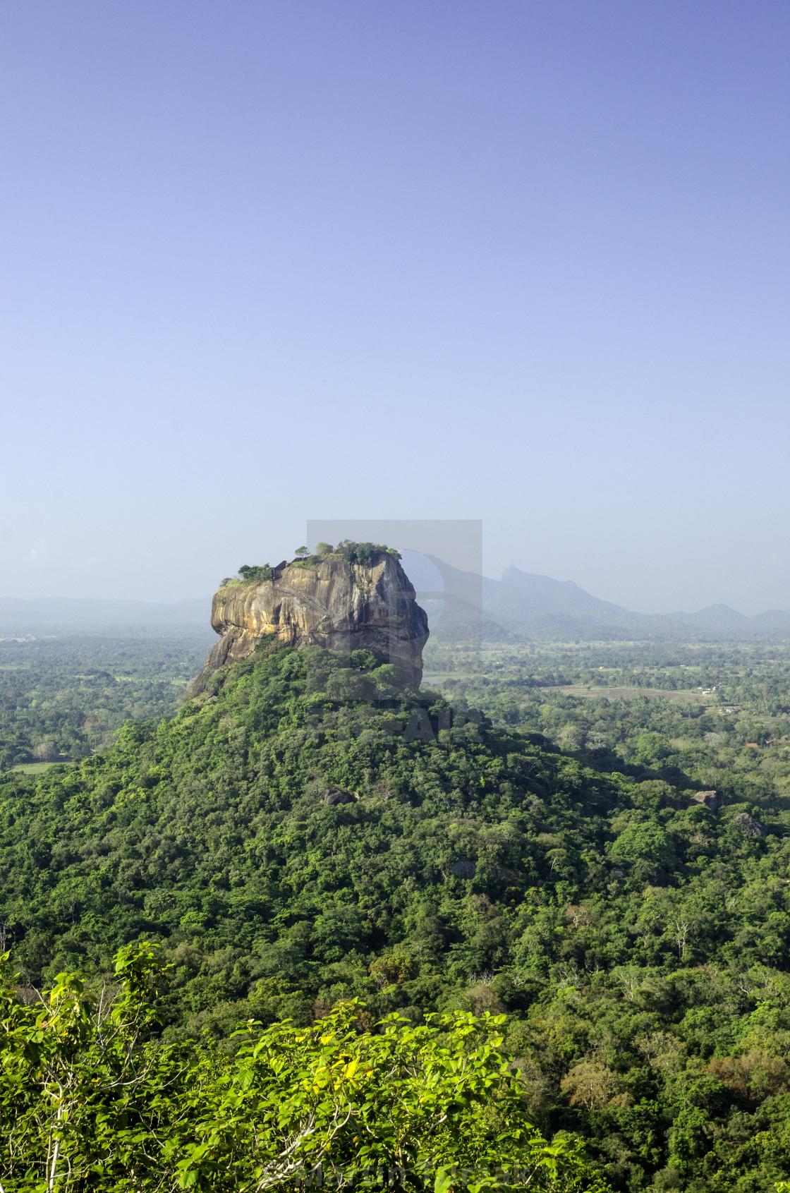"""""""Sigiriya Rock, Sri Lanka"""" stock image"""