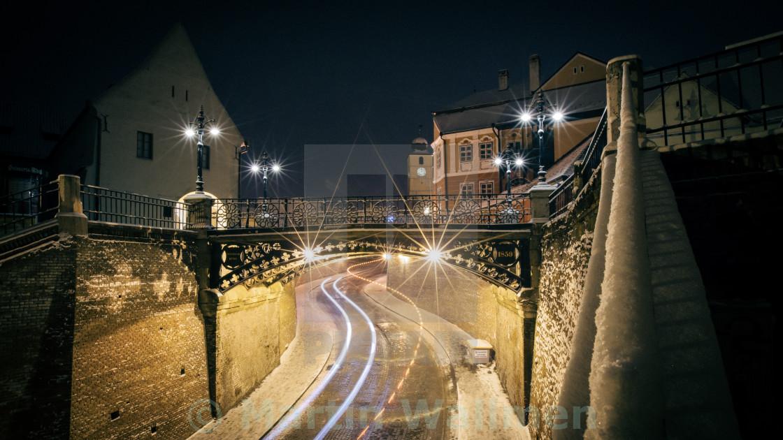 """""""Winter in Sibiu"""" stock image"""
