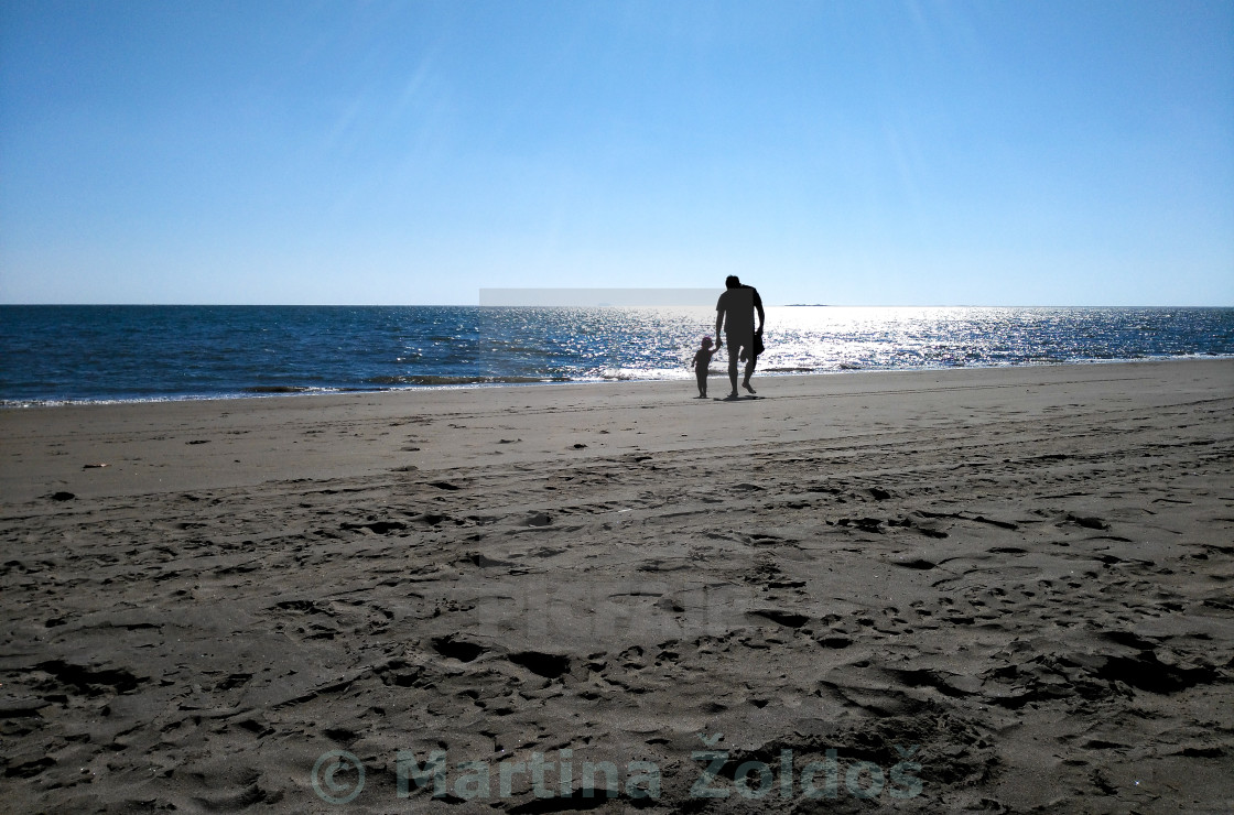 """Walk on the beach"" stock image"