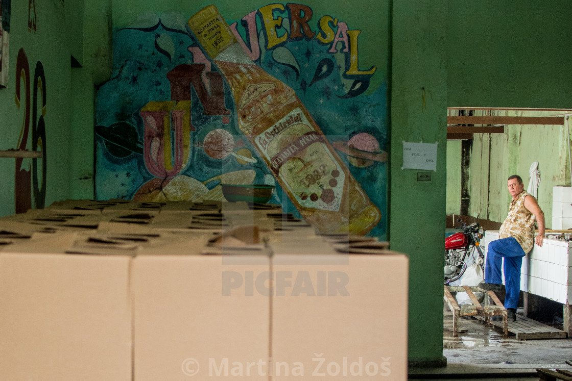 """Rum factory in Cuba"" stock image"