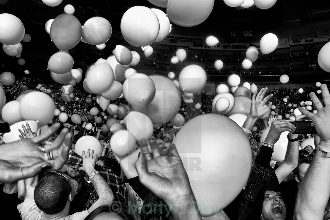 """Balloons fall"" stock image"
