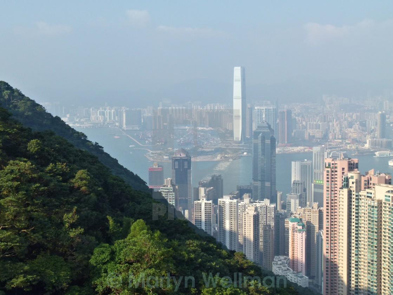 """""""View over Hong Kong"""" stock image"""