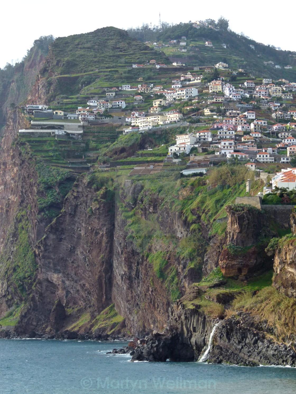 """Madeira cliffs"" stock image"