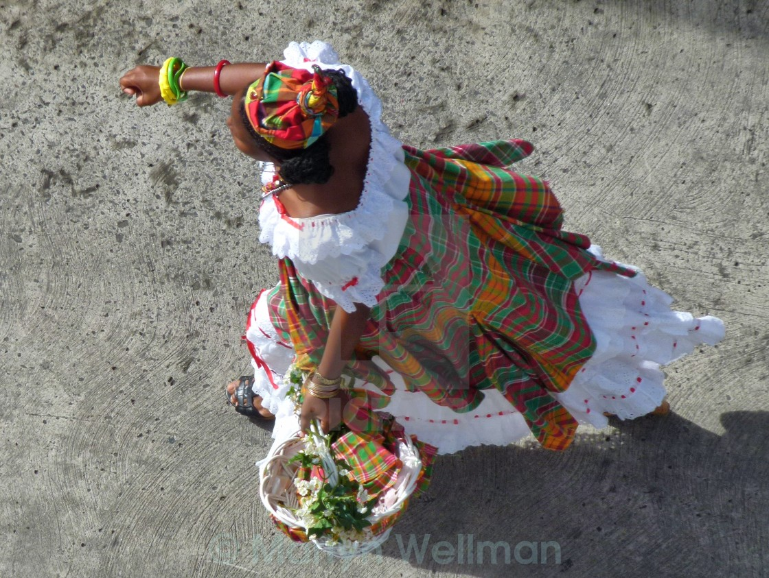 """St Lucia national dress"" stock image"
