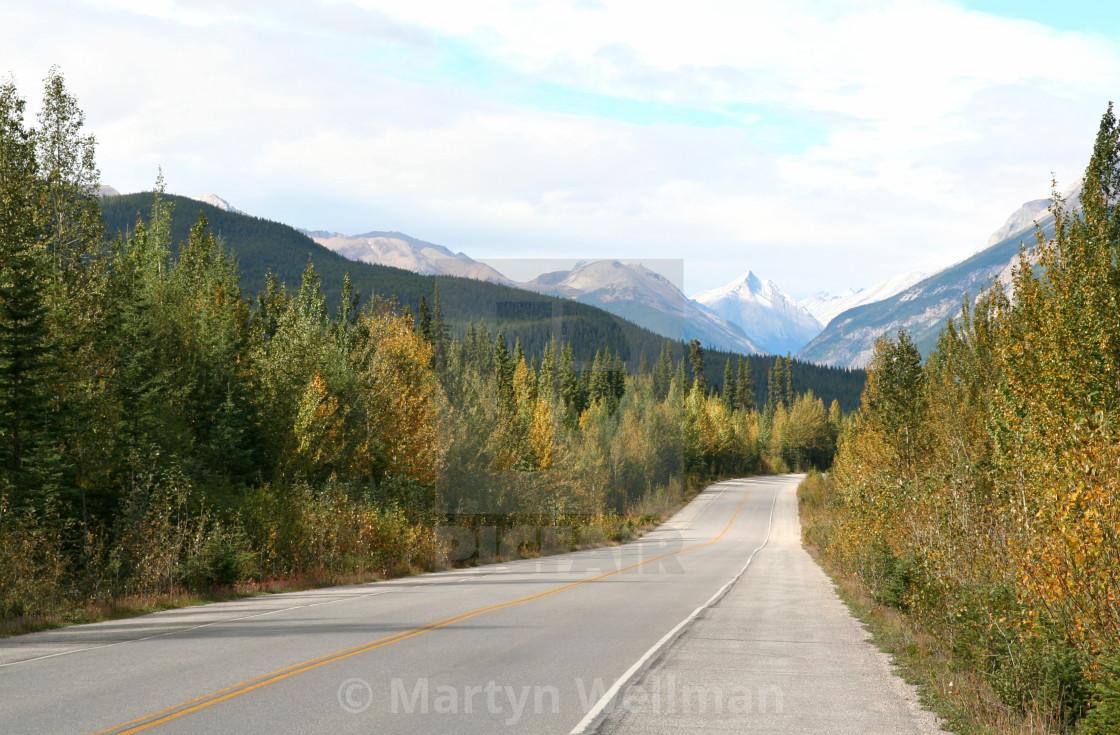 """Rockies road"" stock image"