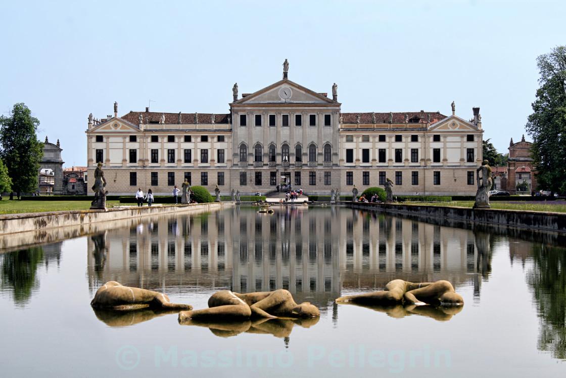 """View of the italian national museum of Villa Pisani"" stock image"